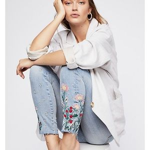 FREE PEOPLE DRIFTWOOD JACKIE JEANS 27x28 new 🌼🌸